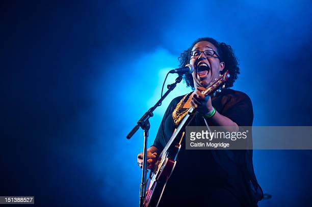 Brittany Howard of the band Alabama Shakes performs on stage at Bestival at Robin Hill Country Park on September 6 2012 in Newport United Kingdom