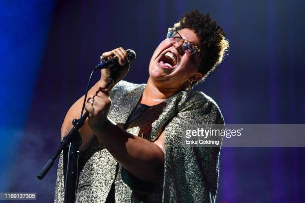 Brittany Howard performs at Ryman Auditorium on August 19 2019 in Nashville Tennessee