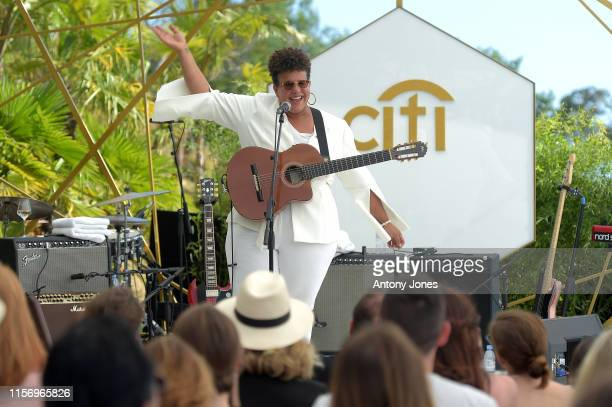 Brittany Howard performs at the Citi Presents Empowering Women in Music during Cannes Lions at Villa Alang Alang on June 19 2019 in Cannes France