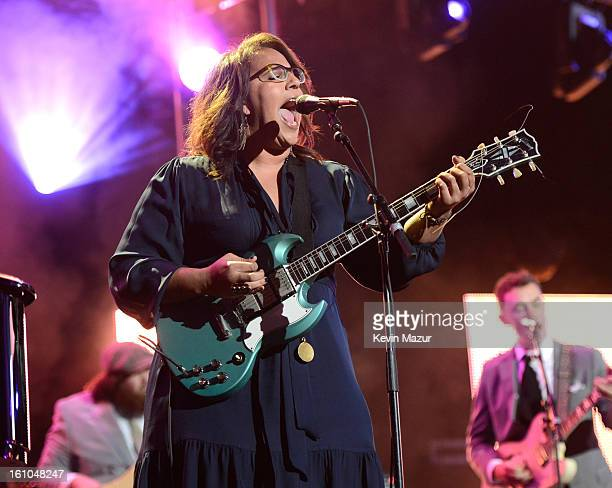 Brittany Howard performs onstage at MusiCares Person Of The Year Honoring Bruce Springsteen at Los Angeles Convention Center on February 8 2013 in...