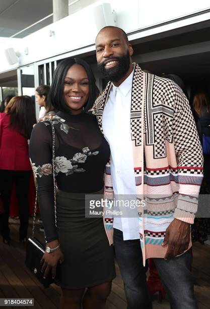 Brittany Jackson and Baron Davis attend Big Love Fest Women's Networking Event at The Jeremy Hotel on February 14 2018 in Los Angeles California