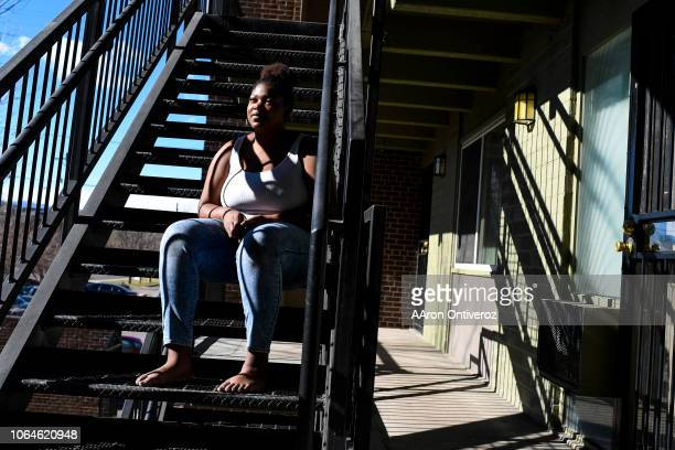 Brittany Jones at her apartment on Friday November 23 2018 Jones who lived homeless for about 18 months in Denver moved to Colorado from Memphis...