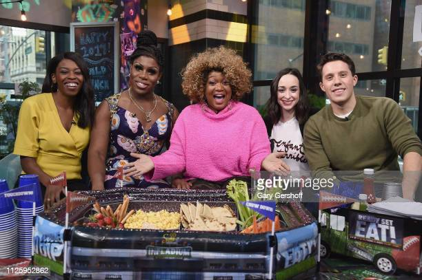Brittany JonesCooper Monet X Change Sunny Anderson Ali Kolbert and Lukas Thimm pose during The Build Brunch at Build Studio on January 29 2019 in New...