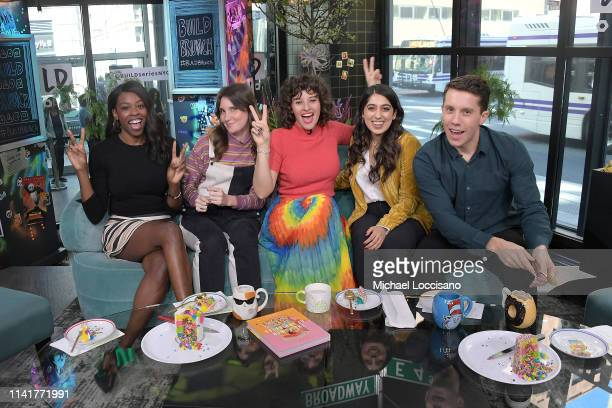 Brittany JonesCooper Shannon Coffey Amirah Kassem Samah Dada and Lukas Thimm take part in the Build Brunch at Build Studio on April 10 2019 in New...