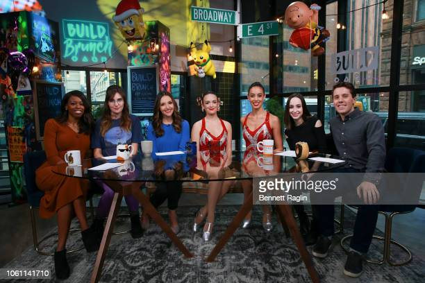 Brittany JonesCooper Shannon Coffey Brit Morin Segan Rose Jackie Aitken Ali Kolbert and Lukas Thimm pose for a picture during Build Brunch at Build...