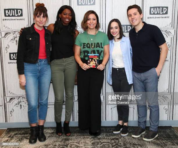 Brittany JonesCooper Shannon Coffey Kay Cannon Ali Kolbert and Lukas Thimm attend 'Build Brunch' at Build Studio on June 28 2018 in New York City