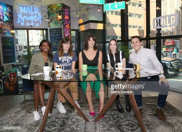 Brittany JonesCooper Shannon Coffey Pollyanna McIntosh Ali Kolbert and Lukas Thimm at Build Brunch to discuss the new seaon of 'The Walking Dead' at...