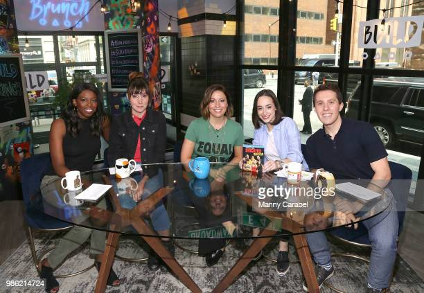Brittany JonesCopper Shannon Coffey Kay Cannon Ali Kolbert and Lukas Thimm attend 'Build Brunch' at Build Studio on June 28 2018 in New York City