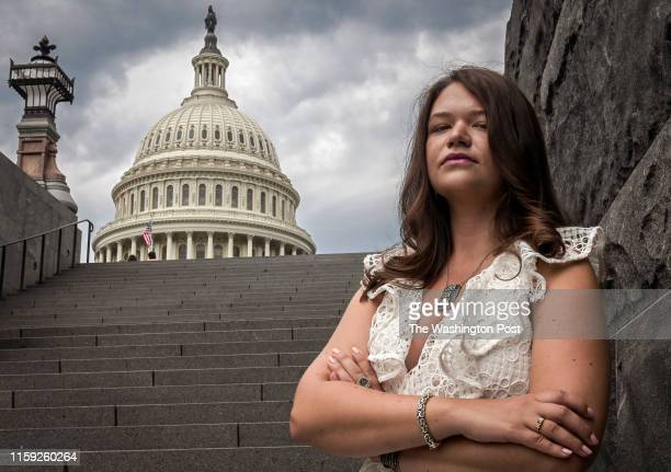 July 31: Brittany Kaiser, former employee of Cambridge Analytica, near the Capitol building in Washington, DC.