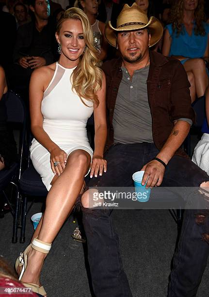 Brittany Kerr and Jason Aldean attend the 2014 CMT Music awards at the Bridgestone Arena on June 4 2014 in Nashville Tennessee