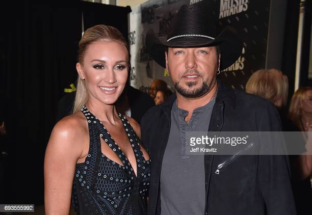 Brittany Kerr and singersongwriter Jason Aldean attend the 2017 CMT Music Awards at the Music City Center on June 7 2017 in Nashville Tennessee