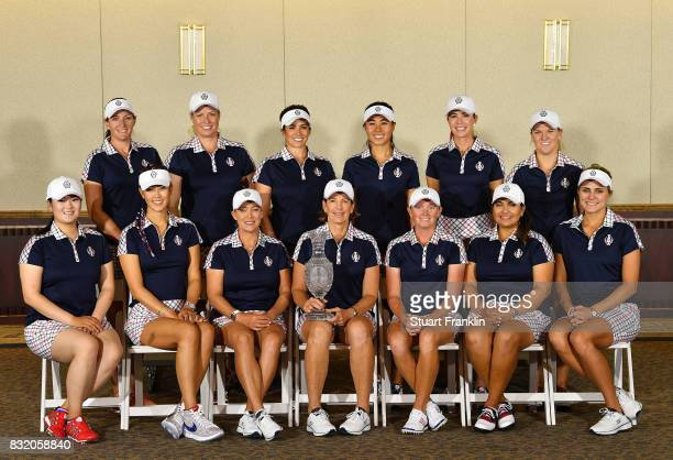 Brittany Lang Brittany Lincicome Gerina Piller Danielle Kang Paula Creamer and Austin Ernst Front row left to right Angel Yin Michelle Wie Cristie...