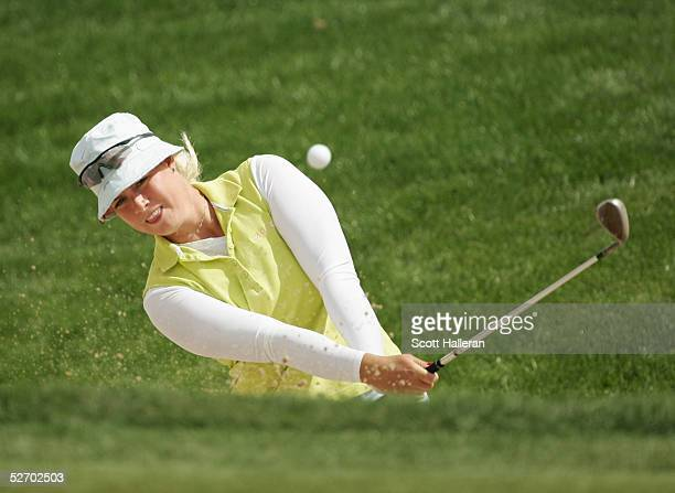 Brittany Lincicome hits a shot during the final round of the Safeway International at Superstition Mountain Golf and Country Club on March 20 2005 in...