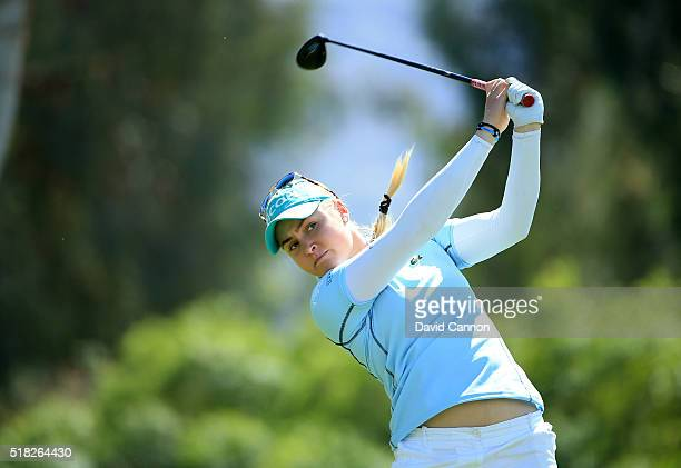Brittany Lincicome of the United States in action during the proam as a preview for the 2016 ANA Inspiration Championship at the Mission Hills...