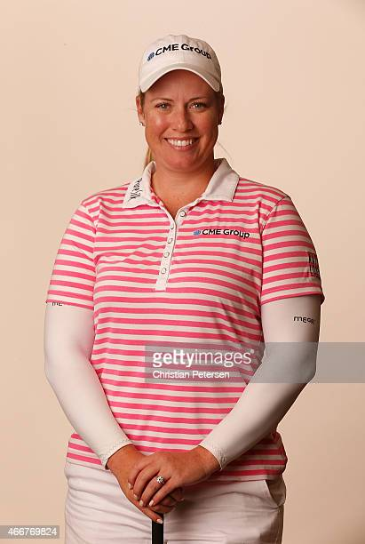 Brittany Lincicome poses for a portrait ahead of the LPGA Founders Cup at Wildfire Golf Club on March 18 2015 in Phoenix Arizona