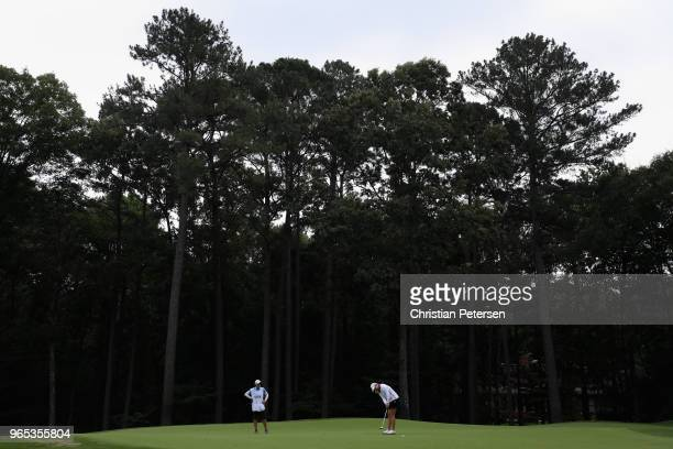 Brittany Lincicome putts on the 16th green during the second round of the 2018 US Women's Open at Shoal Creek on June 1 2018 in Shoal Creek Alabama