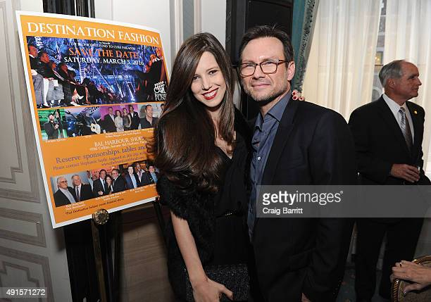Brittany Lopez and Christian Slater attend the 30th Annual Great Sports Legends Dinner to benefit The Buoniconti Fund to Cure Paralysis at The...