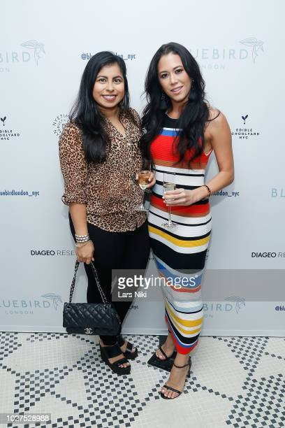 Brittany Mahboobani and Brittany Lo attend the Bluebird London New York City launch party at Bluebird London on September 5, 2018 in New York City.