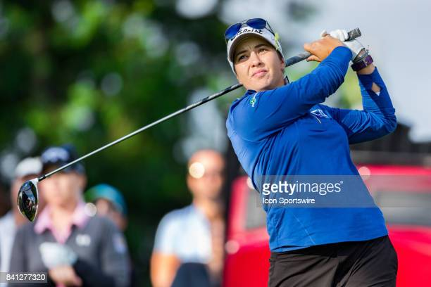 Brittany Marchand tees off on the 1st hole during the first round of the Canadian Pacific Women's Open on August 24 2017 at The Ottawa Hunt and Golf...