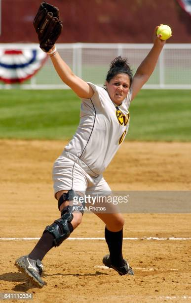Brittany Matthews of Kennesaw State University pitches against Lynn University during the Division II Women's Softball Championship held at the James...