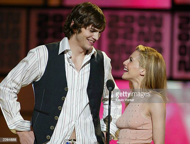 Brittany Murphy and Ashton Kutcher at the VH1 Big In 2002 Awards held at the Grand Olympic Auditorium in Los Angeles CA December 4 2002 Photo by...