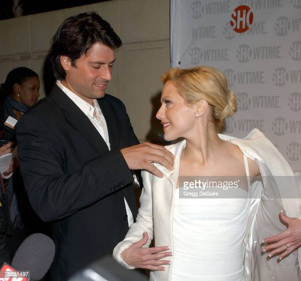 Brittany Murphy and fiance Joe Macaluso at the MGM Screening Room in Century City California