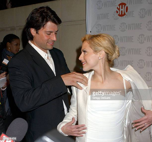 Brittany Murphy and fiance Joe Macaluso during Showtime Presents Liza With A 'Z' Arrivals at MGM Screening Room in Century City California United...
