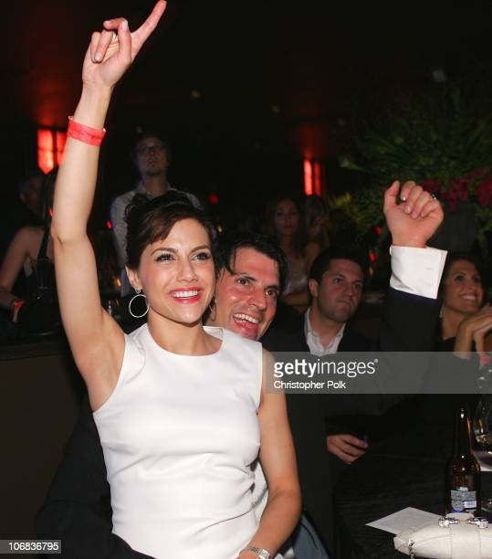 Brittany Murphy and Joe Macaluso during Ubidcom Joins Forces with Hollywood Stars to Launch Celebrity Auction to Benefit Hurricane Victims Inside at...