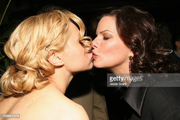 Brittany Murphy and Marcia Gay Harden during The Premiere Party for The Dead Girl at LIVEstyle Entertainment's Premiere Lounge during AFI FEST 2006...