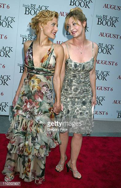 Brittany Murphy and Sharon Lawrence during 'Little Black Book' New York Premiere Arrivals at Ziegfeld Theater in New York City New York United States