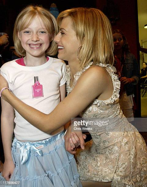 Brittany Murphy Dakota Fanning during 2003 Teen Choice Awards Backstage Creations Day of Show at Universal Amphitheatre in Universal City California...
