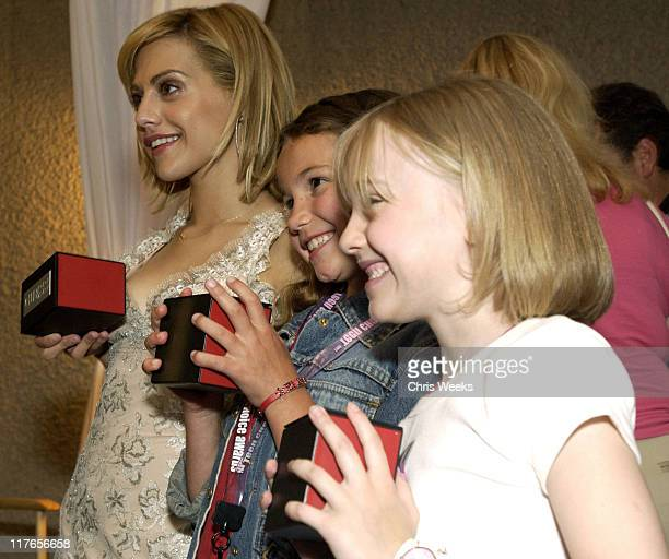 Brittany Murphy Dakota Fanning visit Guess during 2003 Teen Choice Awards Backstage Creations Day of Show at Universal Amphitheatre in Universal City...