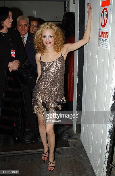 Brittany Murphy during 2002 VH1 Vogue Fashion Awards Audience Backstage at Radio Cit y Music Hall in New York City New York United States