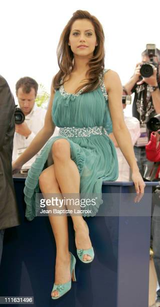 Brittany Murphy during 2005 Cannes Film Festival Sin City Photocall in Cannes France