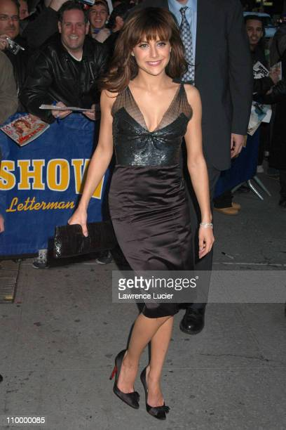 Brittany Murphy during Brittany Murphy Appears Outside The Late Show with David Letterman March 29 2005 at Ed Sullivan Theater in New York City New...