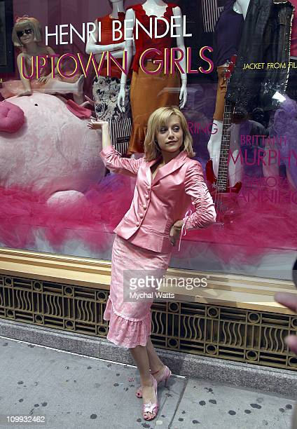 Brittany Murphy during Brittany Murphy Unveils the Exclusive Uptown Girls Window Display at Henri Bendel at Henri Bendel in New York City New York...