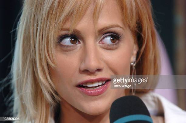 """Brittany Murphy during Brittany Murphy Visits MTVs """"TRL"""" - August 6, 2004 at MTV Studios, Times Square in New York City, New York, United States."""