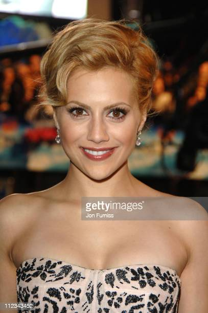 Brittany Murphy during 'Happy Feet' London Premiere Foyer Arrivals at Empire Leicester Square in London Great Britain
