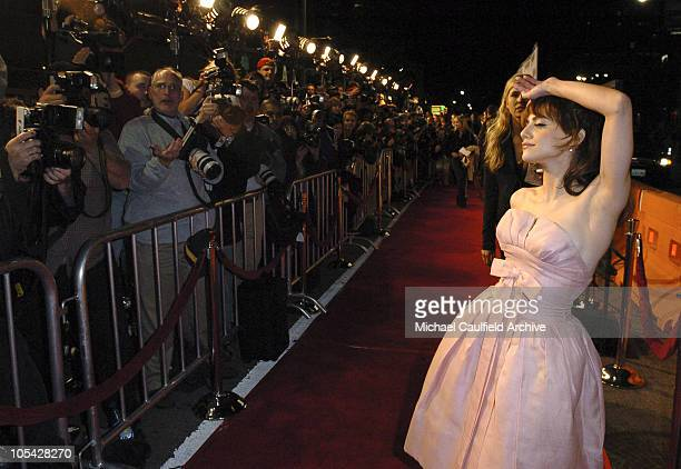 Brittany Murphy during Sin City Los Angeles Premiere Red Carpet at Mann National Theater in Los Angeles California United States