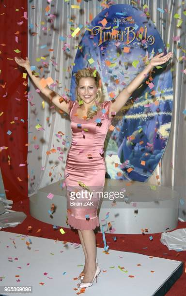 Brittany Murphy makes an appearance at the Jacob Javitz Convention Center to announce she will be giving her voice to the upcoming Disney movie...