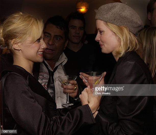 Brittany Murphy Marley Shelton during Party Announcing the Partnership Between Fashion Designer Stella McCartney and Absolut at Chateau Marmont Hotel...