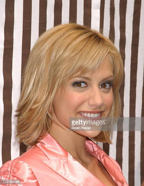 Brittany Murphy wearing an outfit by Moschino during The Stars of Uptown Girls Unveil Exclusive New Window Display at Henri Bendel at Henri Bendel in...