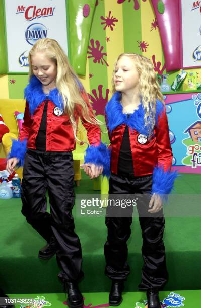 Brittany Oakes and Danielle Chuchran having good clean fun at The Cat in the Hat premiere