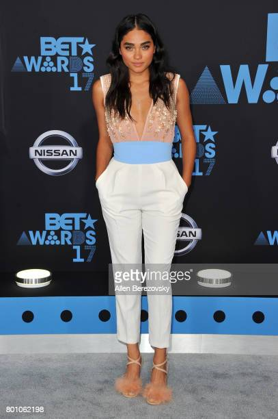 Brittany O'Grady arrives at the 2017 BET Awards at Microsoft Theater on June 25 2017 in Los Angeles California