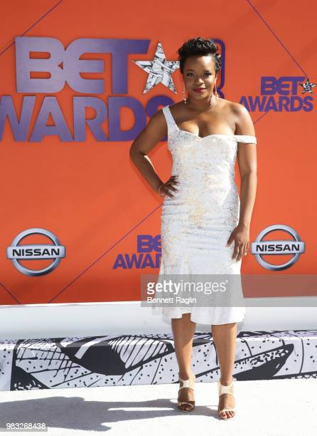 Brittany Packnett attends the 2018 BET Awards at Microsoft Theater on June 24 2018 in Los Angeles California