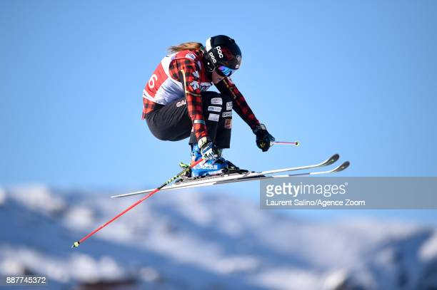 Brittany Phelan of Canada during the FIS Freestyle Ski World Cup Men's and Women's Ski Cross on December 7 2017 in Val Thorens France