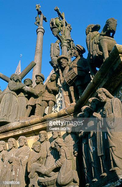 Brittany plural and singular in France PlougastelDaouas calvary 16021604 Cleansing feet and Climbing the Golgotha