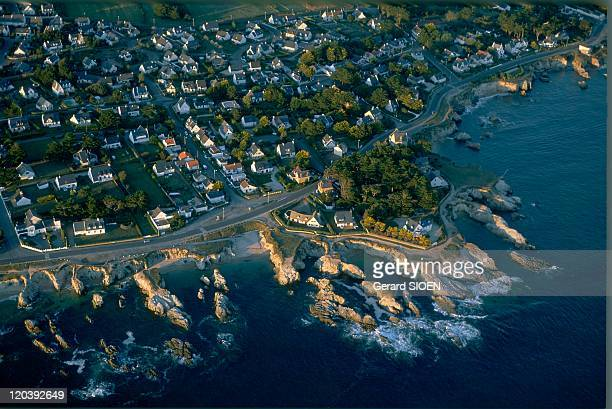 Brittany, plural and singular in Le Pouliguen, France - The wild coast, Le Pouliguen, rocky coaSaint