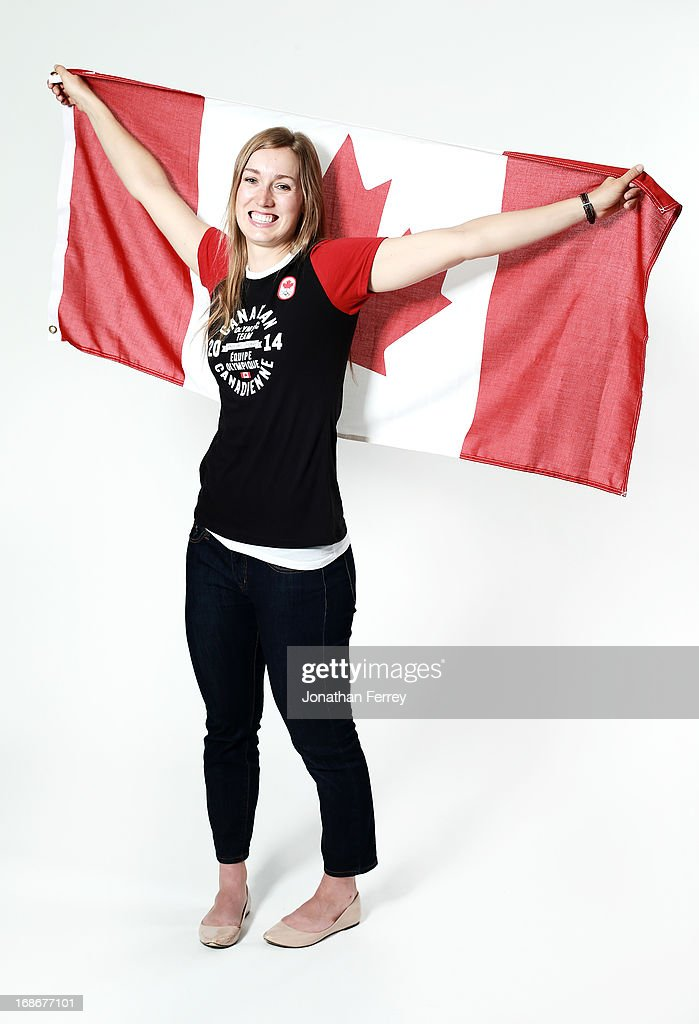 Brittany Schussler poses for a portrait during the Canadian Olympic Committee Portrait Shoot on May 13, 2013 in Vancouver, British Columbia, Canada.