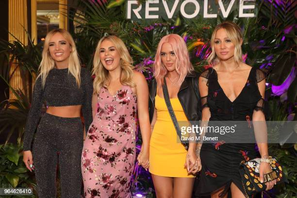 Brittany Senescall Tallia Storm Lottie Tomlinson and Lou Teasdale attend the REVOLVE 'LA Party In London' hosted by Winnie Harlow at Hotel Cafe Royal...